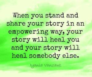 Stand and share your story